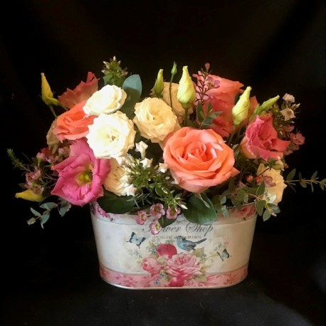 Flower shop oval arrangement