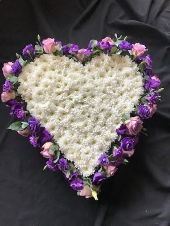 Flower edged heart